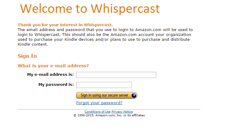 Amazon Whispercast - Terisa O'Dowd Consulting